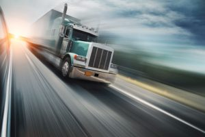 Semi truck speeding down the highway | deadly trucking accidents